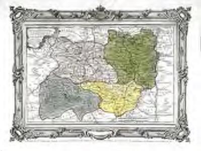 Carte des départemens du Puy de Dome, du Cantal, Du Rhône et Loire et de la Haute Loire