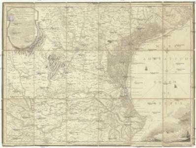 Mappa del Padovano del Polesine di Rovigo del Dogado della parte meridionale del Vicento del Trevigiano e della parte settentrionale del Ferrarese