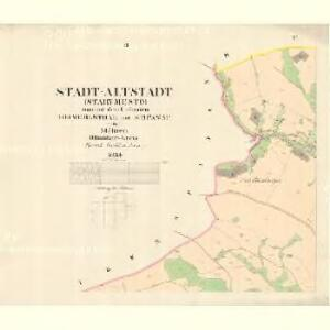 Altstadt (Stary Mesto) - m2861-1-002 - Kaiserpflichtexemplar der Landkarten des stabilen Katasters