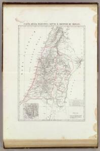 Carta della Palestina sotto il dominio de' Romani.