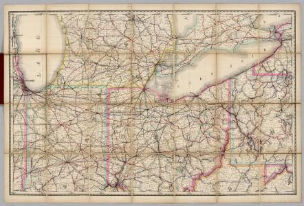 (Indiana, Ohio) Railroad Map of the United States.