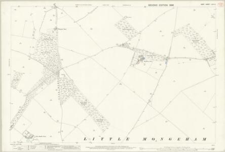 Kent LVIII.6 (includes: Northbourne; Sutton; Tilmanstone) - 25 Inch Map
