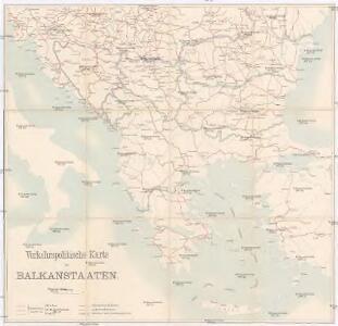 Verkehrspolitische Karte der Balkanstaaten