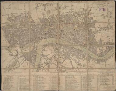 The London directory, or a new & improved plan of London, Westminster, & Southwark, with the adjacent country, the new buildings, the new roads, and the late alterations by opening of new streets, & widening of others