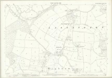 Gloucestershire XXV.9 (includes: Hartpury; Highnam; Rudford) - 25 Inch Map