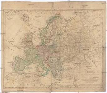 Charte von Europa nach astronomischen Bestimmungen der vornehmsten Orte und damaligen Bestande der Staaten