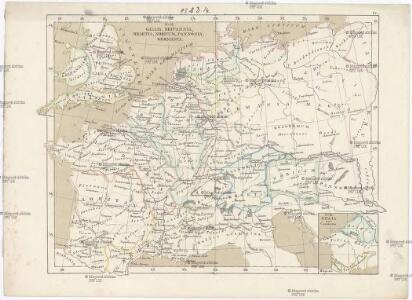 Gallia, Britannia, Rhaetia, Noricum, Pannonia, Germania