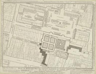 PLAN OF BEDFORD HOUSE, COVENT GARDEN, &c. TAKEN ABOUT 1690