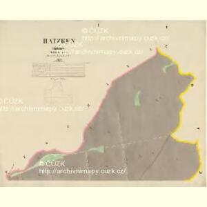 Hatzken - c1797-1-001 - Kaiserpflichtexemplar der Landkarten des stabilen Katasters