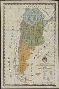 Republica Argentina - Superficie, poblacion, ferrocarriles, cultivos y ganados
