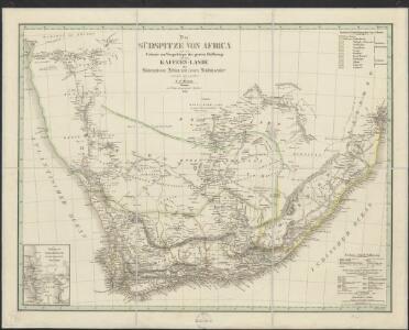 Die Südspitze von Africa mit der Colonie am Vorgebirge der guten Hoffnung und dem Kaffernlande oder Südrand von Africa mit dessen Stufen-laender