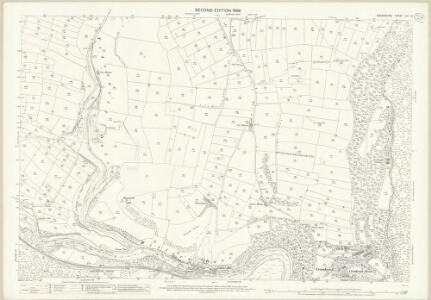 Derbyshire XVI.13 (includes: Brushfield; Great Longstone; Little Longstone; Litton; Taddington; Tideswell; Wardlow) - 25 Inch Map