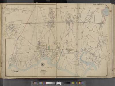 Suffolk County, V. 1, Double Page Plate No. 2 [Map bounded by Town of Smithtown, Bohemia, Nicolls Bay, Great South Bay, Town of Babylon] / supplemented by careful measurements & field observations by our own Corps of Engineers.
