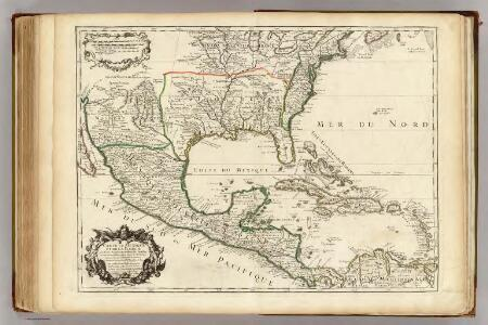 Mexique, Floride, Terres Angloises, Isles Antilles.