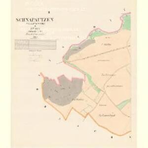 Schnapautzen (Ssnapoussow) - c7105-1-002 - Kaiserpflichtexemplar der Landkarten des stabilen Katasters