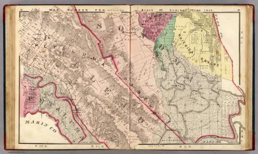 Petaluma, Vallejo, and Sonoma Townships.