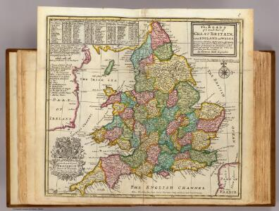 The roads of England and Wales.