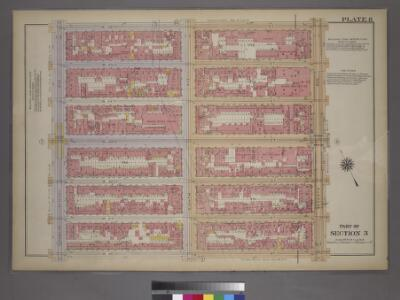 Plate 8, Part of Section 3: [Bounded by W. 26th Street, Seventh Avenue, W. 20th Street and (Chelsea Square) Ninth Avenue.]