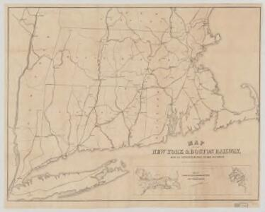 Map of the New York & Boston Railway : with its connections with other railways