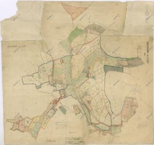 Mapa pozemků dvorů Kout a Starý Dvůr