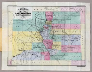 Thayer's Map Of Colorado.