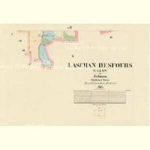 Laschan Desfours (Lažan) - c1079-1-003 - Kaiserpflichtexemplar der Landkarten des stabilen Katasters