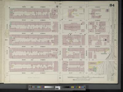 Manhattan, V. 4, Double Page Plate No. 84  [Map bounded by W. 52nd St., E. 52nd St., Park Ave., E. 47th St., W. 47th St., 6th Ave.]