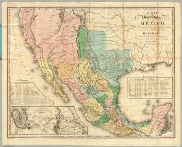 Map Of The United States Of Mexico.