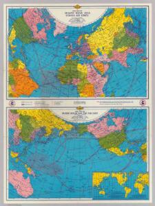War map Atlantic, Eurasia, Africa, Pacific Ocean.