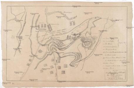 Plan der glorreichen Schlacht bey la belle Alliance am 18ten Juny 1815