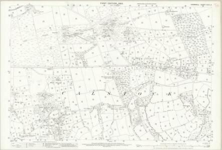 Cornwall XXIX.8 (includes: Calstock) - 25 Inch Map