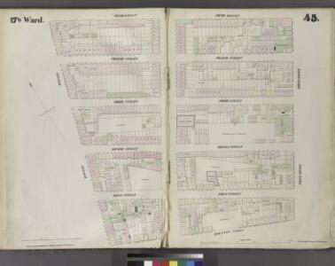 Plate 45: Map bounded by Fifth Street, First Avenue, Houston Street, Bowery.