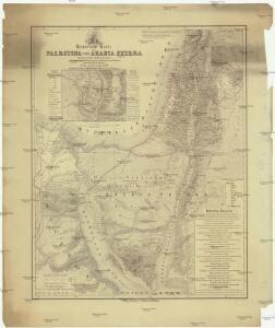 Historische Karte von Palestinae und Arabia Petraea mit einen grossen Theil von AEgypten