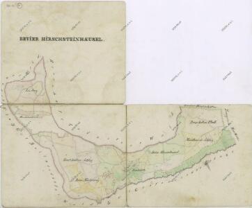 Přehledná mapa revíru Herštejnské Chalupy