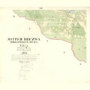 Mitter Beczwa (Prostředny Beczwa) - m2424-1-012 - Kaiserpflichtexemplar der Landkarten des stabilen Katasters
