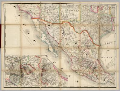 (U.S. Southwest, Mexico) Railroad Map of the United States.