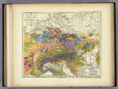 Geologische Karte von Deutschland und den anlieg.