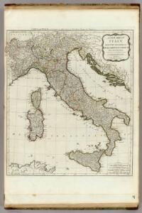 A new map of Italy with the islands of Sicily, Sardinia & Corsica.