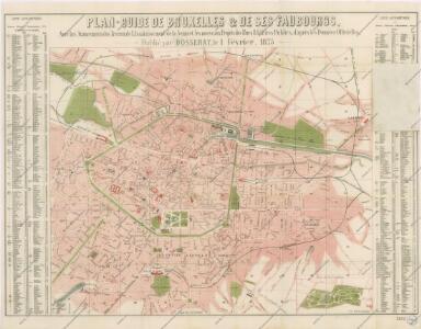 Plan Guide de Bruxelles et de ses Faubourgs