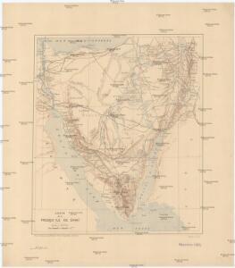 Carte de la presqu'ile de Sinai