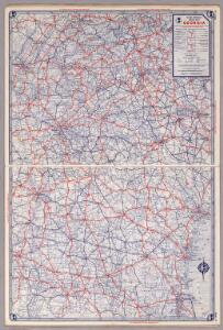 Rand McNally Road map: Georgia