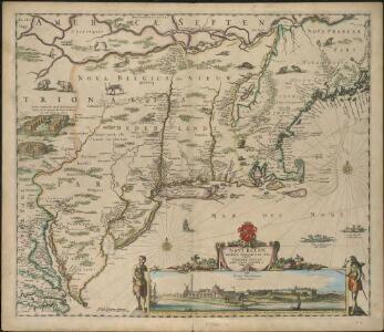 Novi Belgii Novaeqve Angliae nec non partis Virginiae Tabula