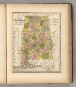New Map Of Alabama.