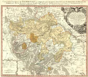 Carté de la Principauté de Halberstadt