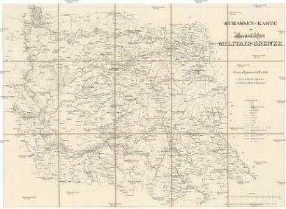 Strassen-Karte der Banatischen Militair-Grenze