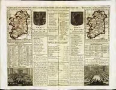 Carte du gouvernement civil et militaire avec l'etat des officiers du royaume d'Irlande