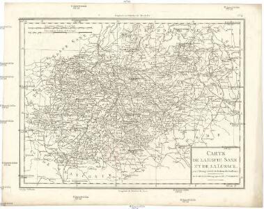 Carte de la Haute Saxe et de la Lusace