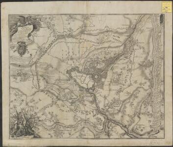 Plan de la ville de Lille : investie par les Haut-Allies sous le commandement de S. A. le Prince Eugene de Savoye le 13. Aoust et prize le 8. Octobre 1708, où l'on void comment et par où elle a esté attaquée