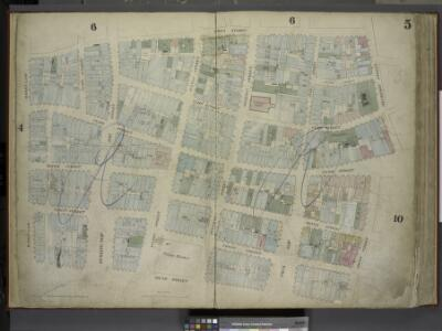 [Plate 5: Map bounded by Gold Street, Frankfort       Street, Dover Street, South Street, Maiden Lane; Including Riders Alley, Jacob   Street, Cliff Street, Pearl Street, Water Street, Front Street, Fletcher Street, Platt Street, John Street, Burling