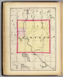 (Map of Crawford County, Michigan)